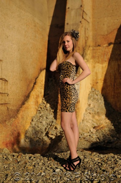 model Charne Spies photographed on location in South Africa