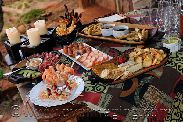 Safari sundowner snacks - Welgevonden Game Reserve, SA
