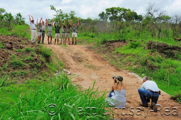 Safari Guide of the Year Finalists being Photographed