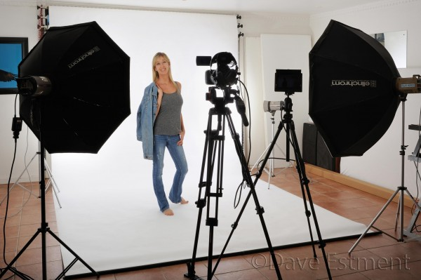 Naomi Estment, professional photographer, in studio